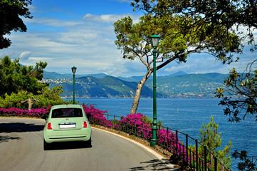 Beautiful road to Portofino from Santa Margherita