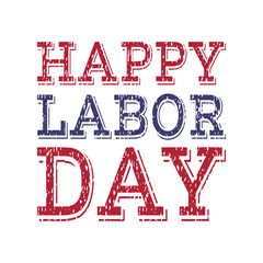 Happy labor day poster template.