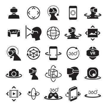virtual reality ,icon and symbol