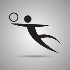 Volleyball sport Icon and symbol