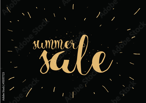 Summer Sale Hand Drawn Calligraphy For Banner Poster Or