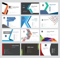 Set Vector Modern Creative and Clean Business Card Template