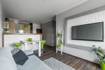 Big tv in small living room