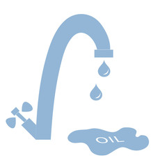 Stylized icon of the faucet with drops of fuel and the inscripti