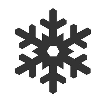 Snowflake icon isolated on a white background. Vector illustration.