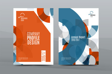 Colorful fresh business A4 cover template - flyer, brochure, book magazine and annual report