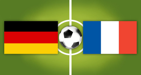 football soccer germany france background 3d render