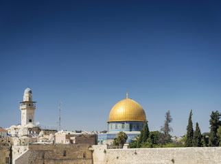 al aqsa mosque landmark in old town of jesuralem israel