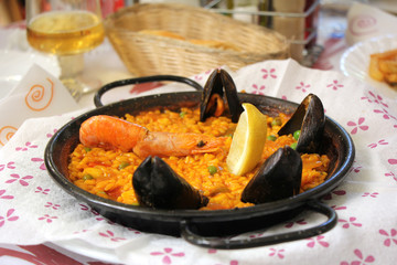Paella traditional Spanish food