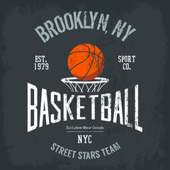 Streetball or urban sport team logo and banner