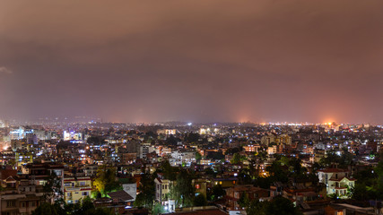 Patan and Kathmandu city at night