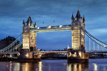 London's Tower Bridge at twilight