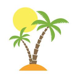 Palmen Insel Vektor freigestellt