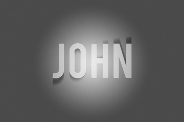 John Shadow Text