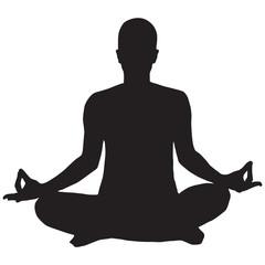 Person Meditating Icon yoga
