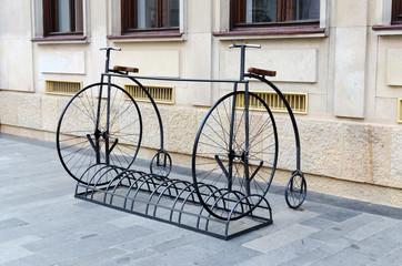 Bike Stand in Penny Farthing Design, Bratislava, Slovakia