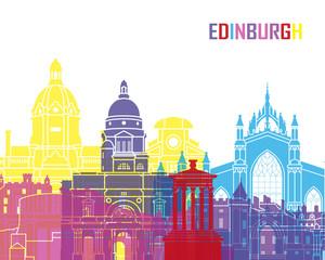 Fototapete - Edinburgh skyline pop