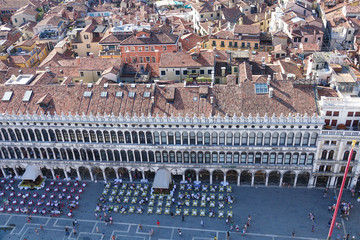 Aerial view over St Mark s Square in Venice - San Marco