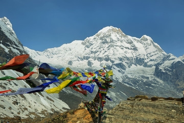 Mt Annapurna South in Nepal