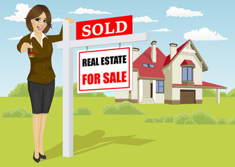 Image result for cartoon real estate lady