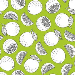 Seamless hand drawn lime pattern