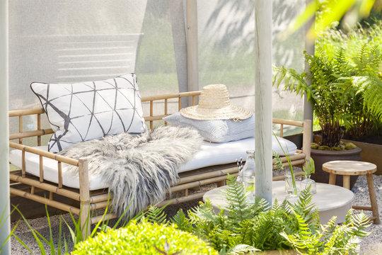 Cozy garden seating