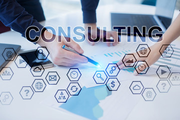 Wall Mural - Business people working in office. Consulting concept.
