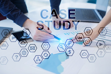 Business people working in office. Case study concept.