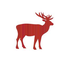 Deer Christmas holiday vector card