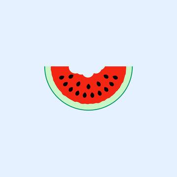 Watermelon slice icon. Vector illustration