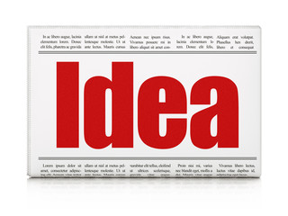 Marketing concept: newspaper headline Idea