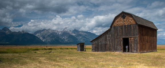Old barn at Grand Teton National Park, Wyoming