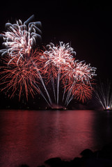 Fireworks display lights up the night sky
