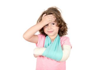Little child with broken hand