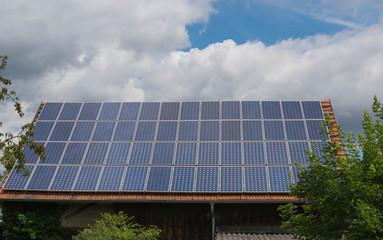 Solar Anlage auf einem Dach