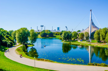 Olympiapark in Munich, Germany, is an Olympic Park which was constructed for the 1972 Summer Olympics