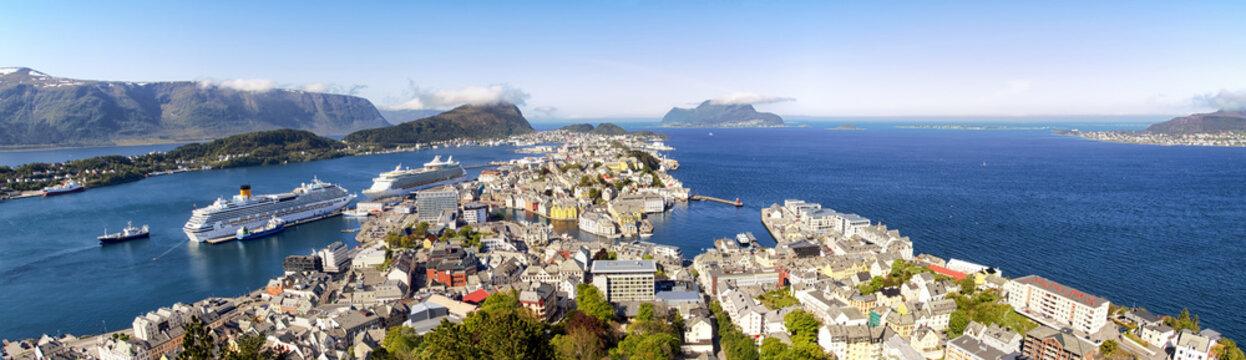 Alesund Norway Panoramic