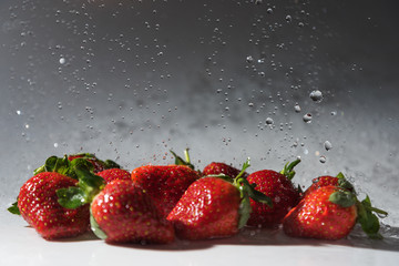 Strawberries and water.
