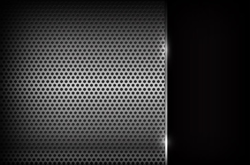 Dark chrome steel abstract background vector illustration eps10