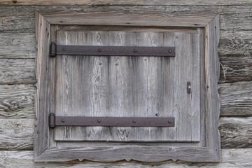 wooden window of old barn