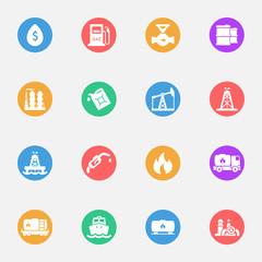 fuel icon flat