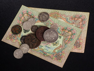 Ancient Russian money . Russian antiques.