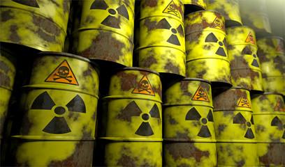 Rostende Atommüll-Fässer