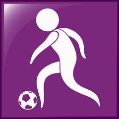 Sport icon for football on purple background