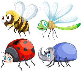 Different kind of insects that fly