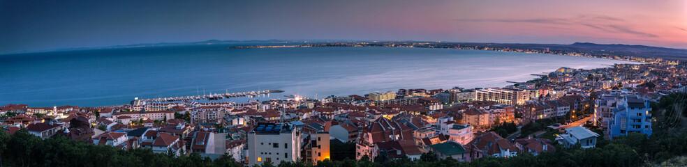 Night view to the black sea coastline Wall mural
