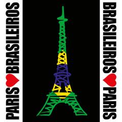 Paris - Tour Eiffel - Brasileiros
