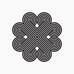 Intertwined pattern. Line design, vector illustration, EPS 10