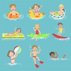 Kids Playing In the Water Set