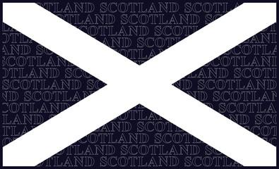 Scottish Saltire national flag with Saint Andrews Cross